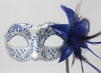Blue &  Silver Brush Stroke Mask